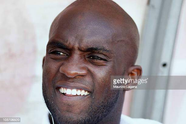 Mohamed Sissoko of Juventus FC looks on before the Serie A match between Bari and Juventus at Stadio San Nicola on August 29 2010 in Bari Italy