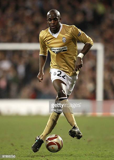 Mohamed Sissoko of Juventus in action during the UEFA Europa League Round of 16 second leg match between Fulham and Juventus at Craven Cottage on...