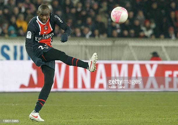 Mohamed Sissoko of Paris Saint Germain during the French Ligue 1 between Paris Saint Germain and Thonon Evian Gaillard at Parc Des Princes on...