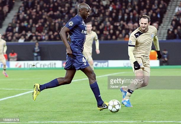 Mohamed Sissoko of Paris SaintGermain during the UEFA Champions League between Paris Saint Germain and GNK Dinamo Zagreb at Parc Des Princes on...