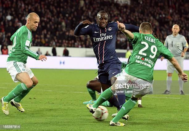 Mohamed Sissoko of Paris SaintGermain FC during the French Ligue 1 between Paris SaintGermain FC and AS SaintEtienne at Parc des Princes on November...