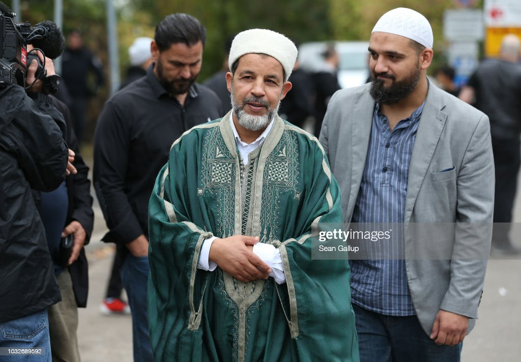 Mohamed Taha Sabri, imam at the Dar Assalam mosque, departs at the conclusion of the funeral of Nidal R. at the New 12 Apostles cemetery on September 13, 2018 in Berlin, Germany. Nidal R., 36, a multiple felon, was gunned down by assailants who managed to flee the scene at a public park last Sunday. Berlin has a number of Arab, Kurdish and Turkish clans deeply organized in organized crime.