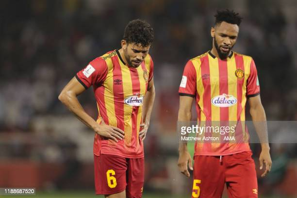Mohamed Yakoubi and Chamseddine Dhaouadi of Esperance Sportive de Tunis during the FIFA Club World Cup 2nd round match between Al Hilal and Esperance...