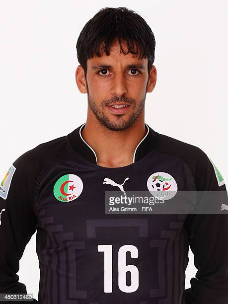 Mohamed Zemmamouche of Algeria poses during the official FIFA World Cup 2014 portrait session on June 8 2014 in Sao Paulo Brazil