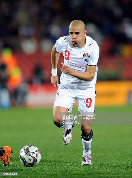 Mohamed Zidan of Egypt in action during the FIFA Confederations Cup match between Egypt and Italy at Ellis Stadium on June 18 2009 in Johannesburg...