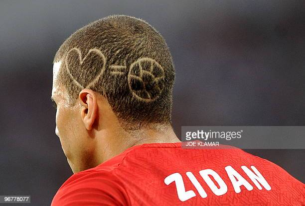 Mohamed Zidan of Egypt take part in the final match between Egypt and Ghana during the African Cup of Nations football championships CAN2010 at...