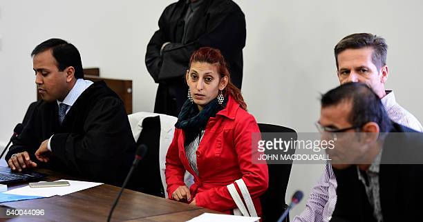 Mohamed's mother Aldiana Januzi arrives for the start trial against Silvio S at the regional court in Potsdam near Berlin on June 2016 as he is...