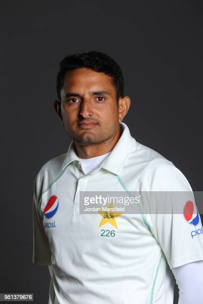 Mohammad Abbas poses for a portrait during the Pakistan Headshot Session at The Spitfire Ground on April 25 2018 in Canterbury England
