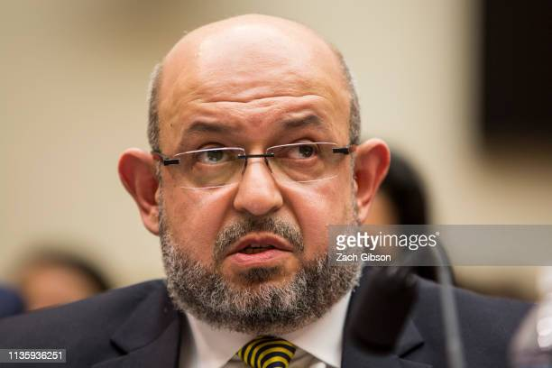 Mohammad AbuSalha the father of victims in a 2015 shooting in Chapel Hill NC testifies during a House Judiciary Committee hearing discussing hate...