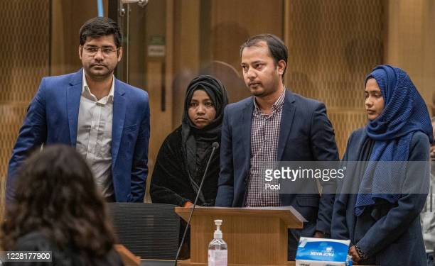 Mohammad Alam is seen during the sentencing hearing for Christchurch mosque gunman Brenton Tarrant at Christchurch High Court on August 24 2020 in...
