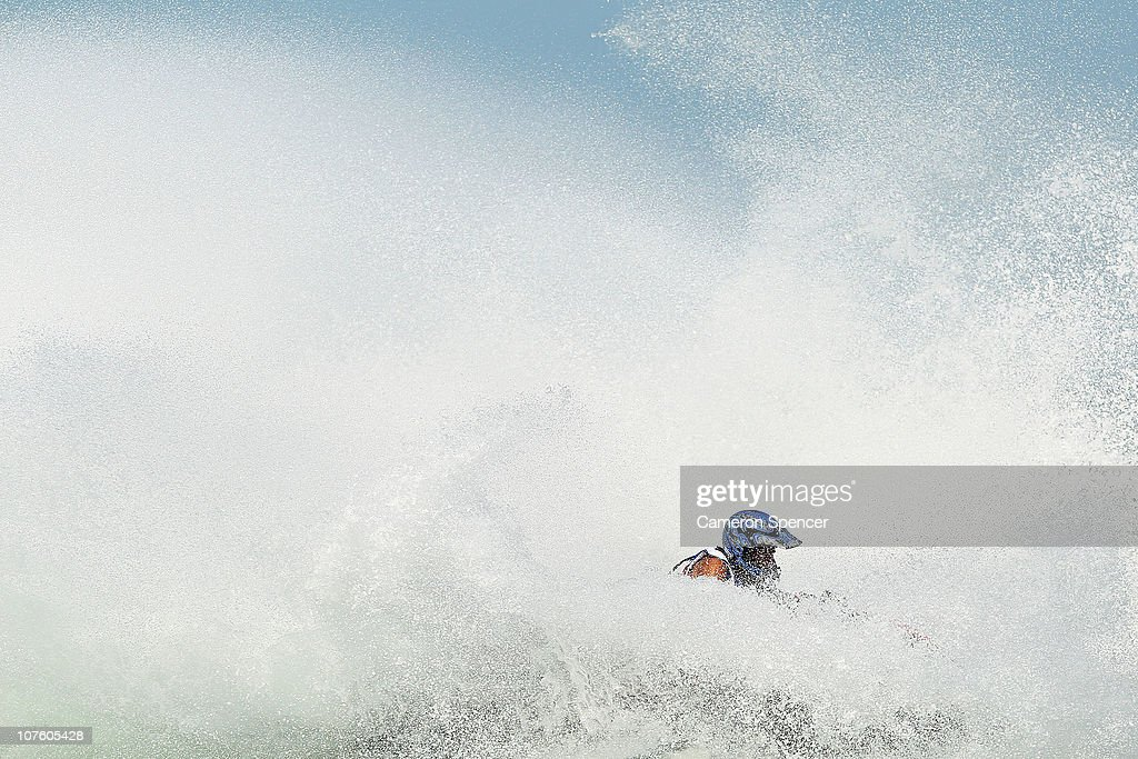 Mohammad Albaz of Kuwait competes in the Jetski Final at Al-Musannah Sports City during day eight of the 2nd Asian Beach Games Muscat 2010 on December 15, 2010 in Muscat, Oman.