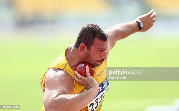Mohammad Al-Joburi of Sweden competes in the Men's Shot Put F42 Final during the Morning Session on Day One of the IPC Athletics World Championships...