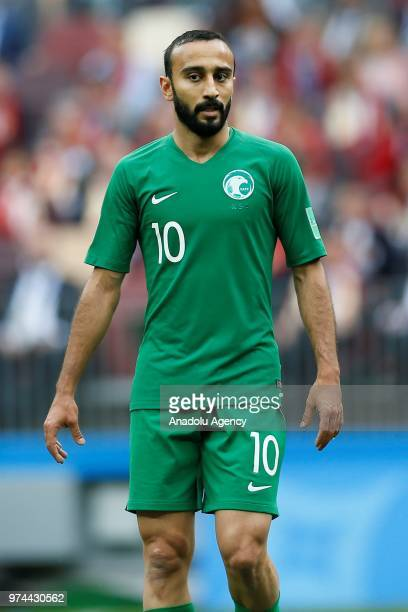 Mohammad AlSahlawi of Saudi Arabia during the 2018 FIFA World Cup Russia Group A match between Russia and Saudi Arabia at the Luzhniki Stadium Moscow...