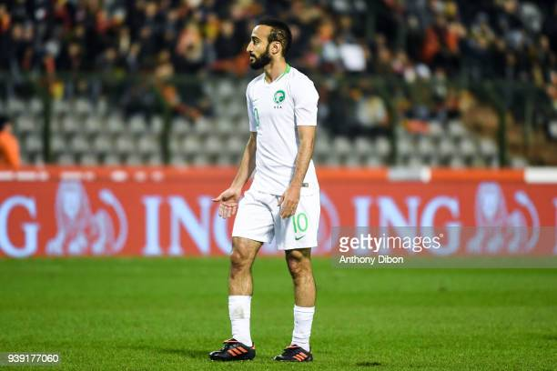 Mohammad Alsahlawi of Saudi Arabia during the International friendly match between Belgium and Saudi Arabia on March 27 2018 in Brussel Belgium