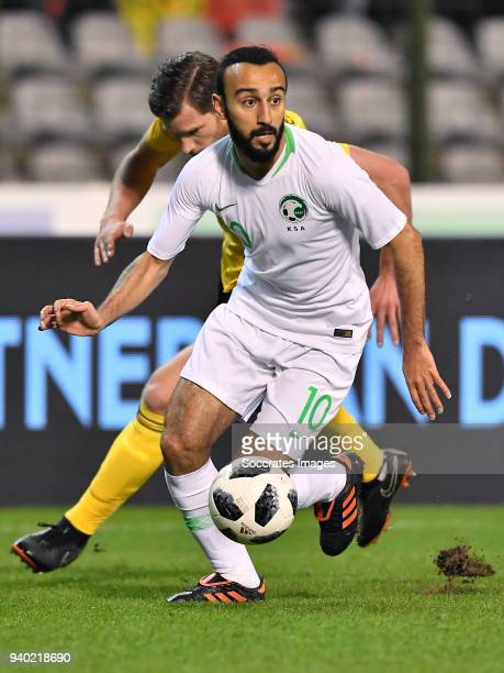 Mohammad Alsahlawi of Saudi Arabia during the International Friendly match between Belgium v Saudi Arabia at the Koning Boudewijnstadion on March 27...