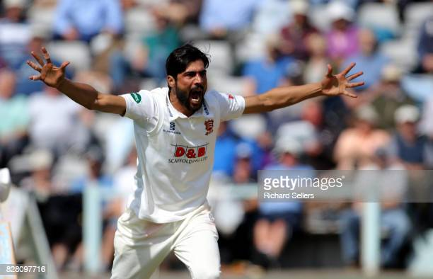 Mohammad Amir of Essex appeals during the Specsavers County Championship Division One between Yorkshire and Essex at North Marine Road on August 7...