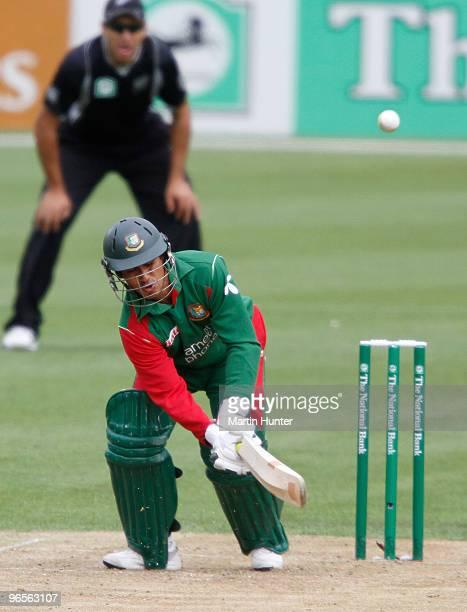 Mohammad Ashraful of Bangladdesh bats during the third One Day International match between the New Zealand Blacks Caps and Bangladesh at AMI Stadium...