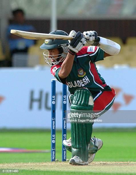 Mohammad Ashraful of Bangladesh batting during the ICC Champions Trophy match between Bangladesh and South Africa Edgbaston Birmingham 12th September...
