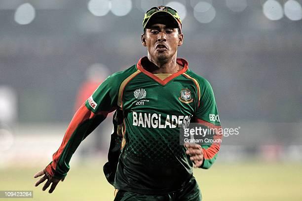 Mohammad Ashraful of Bangladesh chases down a ball during the 2011 ICC World Cup Group B match between Bangladesh and Ireland at ShereeBangla...