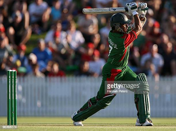 Mohammad Ashraful of Bangladesh during the Twenty20 International match between New Zealand and Bangladesh at Seddon Park on February 3 2010 in...