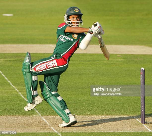 Mohammad Ashraful of Bangladesh in batting action during the NatWest Series One Day International between England and Bangladesh at Trent Bridge in...