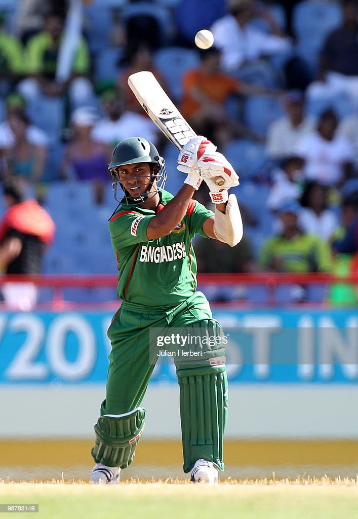 Mohammad Ashraful of Bangladesh scores runs during The ICC World Twenty20 Group A match between Pakistan and Bangladesh played at The Beausejour Cricket Ground on May 1, 2010 in Gros Islet, Saint Lucia.