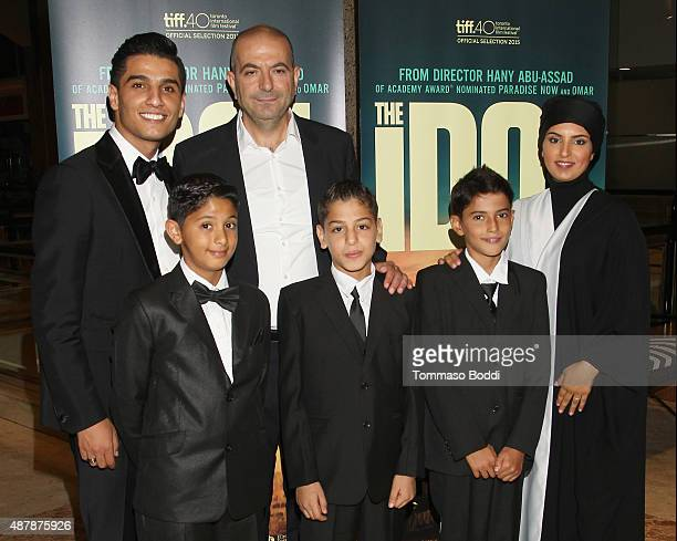 Mohammad Assef Director Hany AbuAssad Actors Qais Attaalah Ahmed Qasim Abdelkader Abubaraka and CEO of the Doha Film Institute Fatma Al Remaihi...