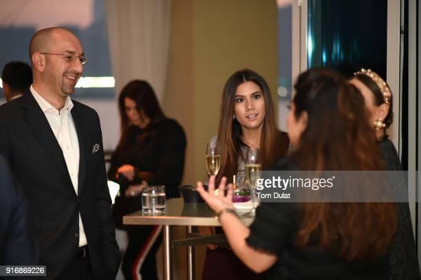 Mohammad Barakat Nilufar Abdugafarova and Tooba Zafar attend cocktail reception at Cafe Milano Four Seasons Hotel Abu Dhabi at Al Maryah Island...