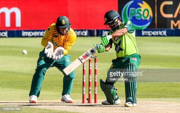 Mohammad Hafeez of Pakistan during the 2nd KFC T20 International match between South Africa and Pakistan at Imperial Wanderers Stadium on April 12,...