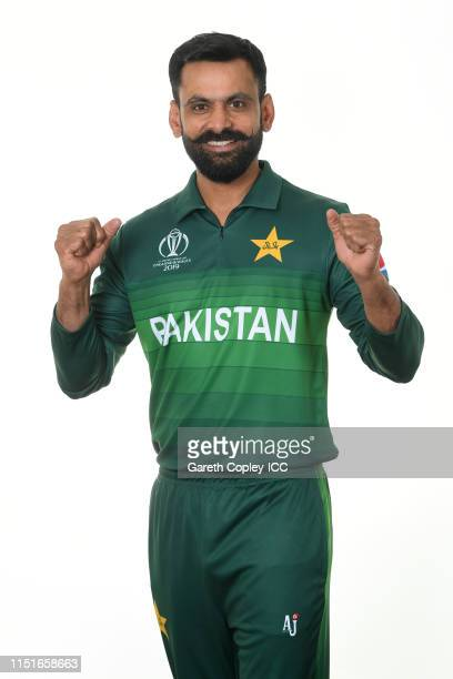 Mohammad Hafeez of Pakistan poses for a portrait prior to the ICC Cricket World Cup 2019 at on May 25 2019 in Cardiff Wales