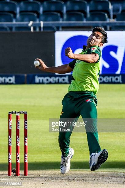 Mohammad Hasnain of Pakistan during the 2nd KFC T20 International match between South Africa and Pakistan at Imperial Wanderers Stadium on April 12,...