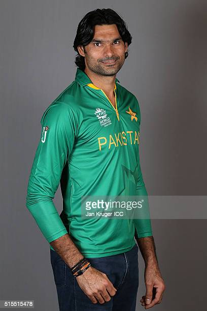 Mohammad Irfan poses during a Pakistan headshots session on March 14 2016 in Kolkata India