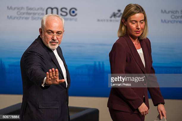 Mohammad Javad Zarif Minister of Foreign Affairs of Iran and Federica Mogherini High Representative of the European Union for Foreign Affairs and...