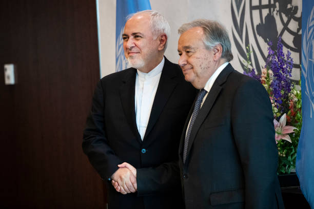 NY: United Nations Secretary-General Antonio Guterres Meets With Iranian Minister For Foreign Affairs Mohammad Javad Zarif