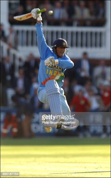 Mohammad Kaif of India celebrates their win during the match between England and India in the NatWest One Day Series Final at Lord's in London...
