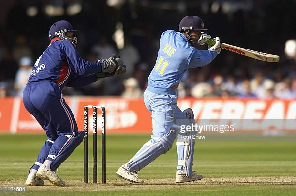 Mohammad Kaif of India during the match between England and India in the NatWest One Day Series Final at Lord's in London England on July 13 2002