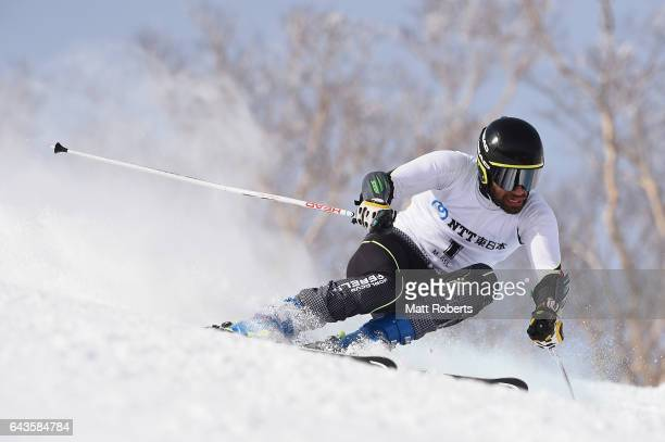 Mohammad Kiadarbandsari of Iran competes in the men's alpine skiing giant slalom on day five of the 2017 Sapporo Asian Winter Games at Sapporo Teine...