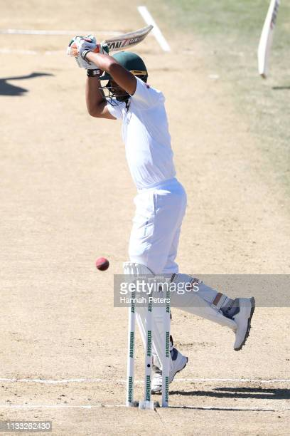 Mohammad Mahmudullah of Bangladesh of bats during day four of the First Test match in the series between New Zealand and Bangladesh at Seddon Park on...