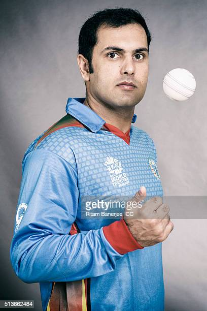 Mohammad Nabi of the Afghanistan poses during the official photocall for the ICC Twenty20 World on March 3 2016 in Mohali India