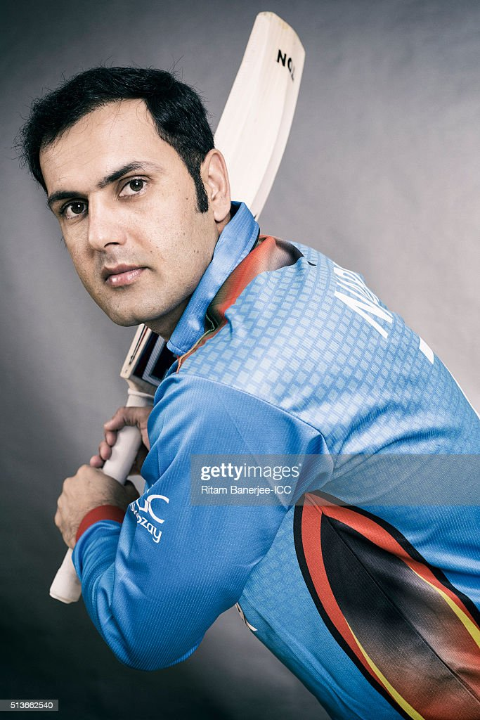 Mohammad Nabi of the Afghanistan poses during the official photocall for the ICC Twenty20 World on March 3, 2016 in Mohali, India.