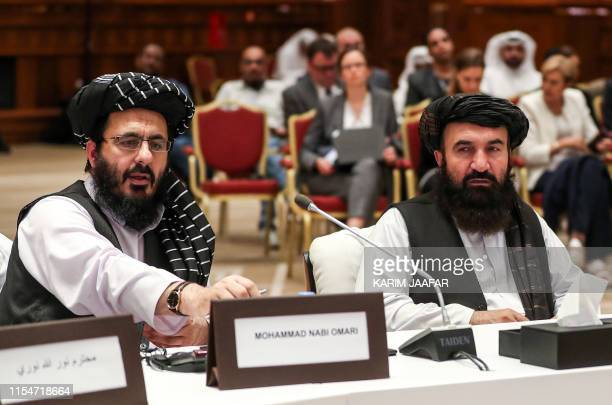 Mohammad Nabi Omari and Khairullah Khairkhwa members of the Taliban who were former prisoners held by the US at Guantanamo Bay and reportedly...