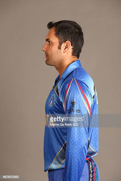 Mohammad Nabi poses during the Afghanistan 2015 ICC Cricket World Cup Headshots Session at the Intercontinental on February 7 2015 in Adelaide...