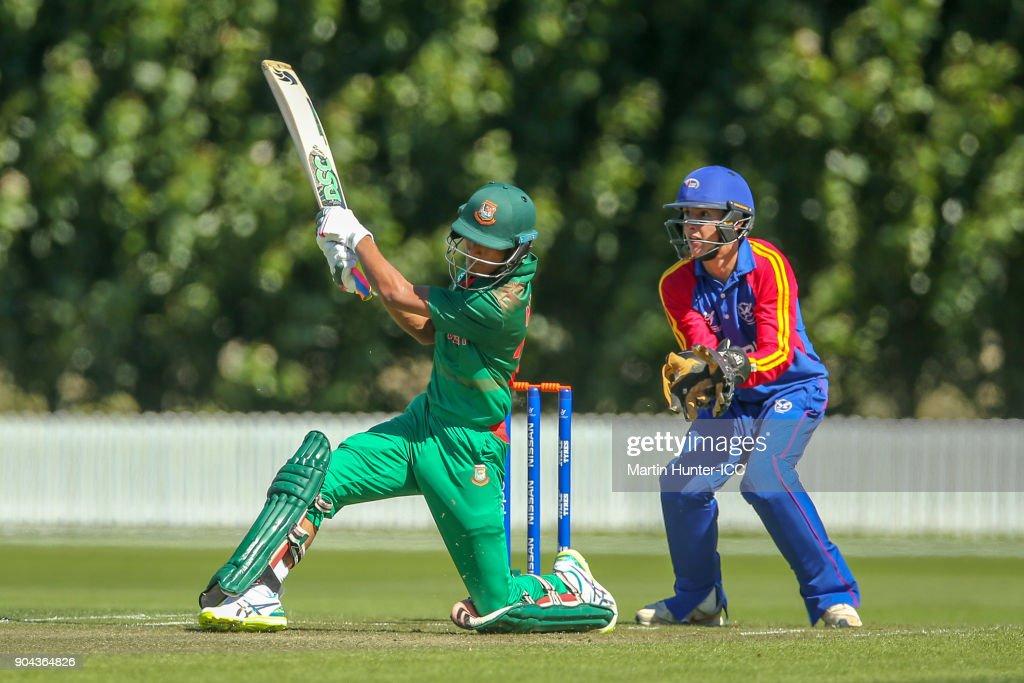 ICC U19 Cricket World Cup - Bangladesh v Namibia : News Photo