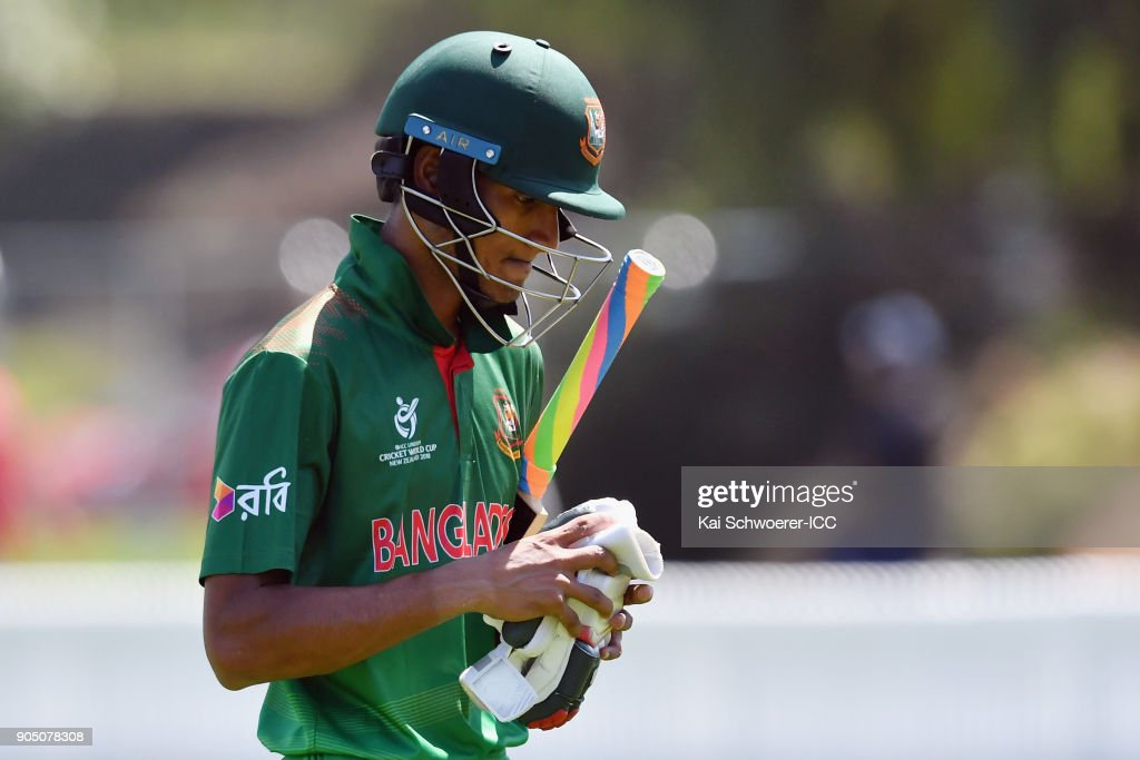 ICC U19 Cricket World Cup - Bangladesh v Canada : News Photo