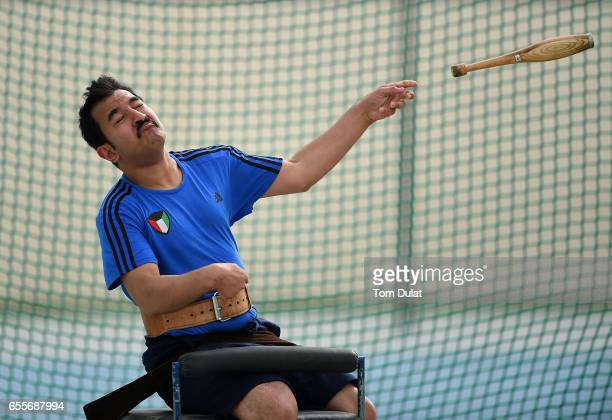 Mohammad Nasser of Kuwait competes in Club 397g Men during the 9th Fazza International IPC Athletics Grand Prix Competition World Para Athletics...