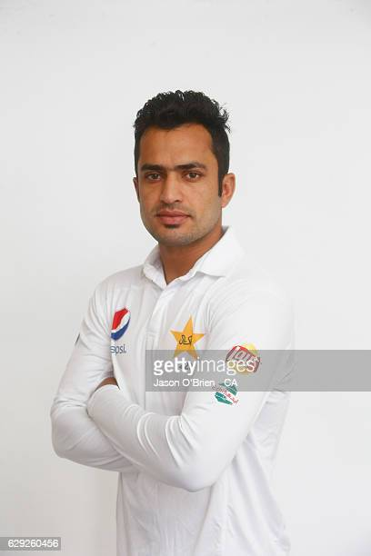 Mohammad Nawaz poses during the Pakistan Test team headshots session on December 12 2016 in Brisbane Australia