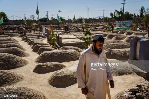 Mohammad Nazir visits the Arab shrine, dedicated to the scores of Arab Al Qaeda fighters and their families, all killed in the waning days of 2001...