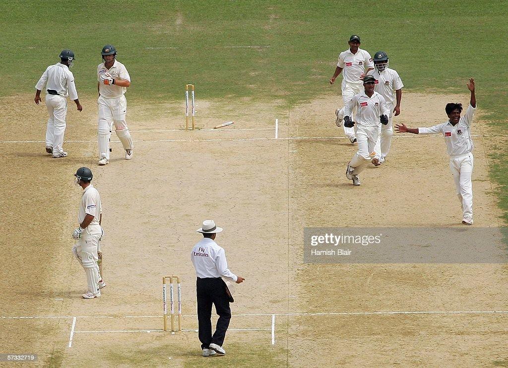 1st Test - Bangladesh v Australia: Day 5 : News Photo