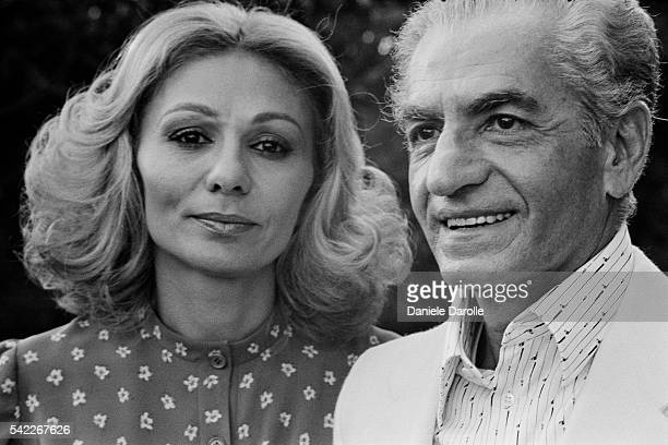 Mohammad Reza Pahlavi Shah of Iran and his third wife Farah Diba during their exile in Cuernavaca Mexico