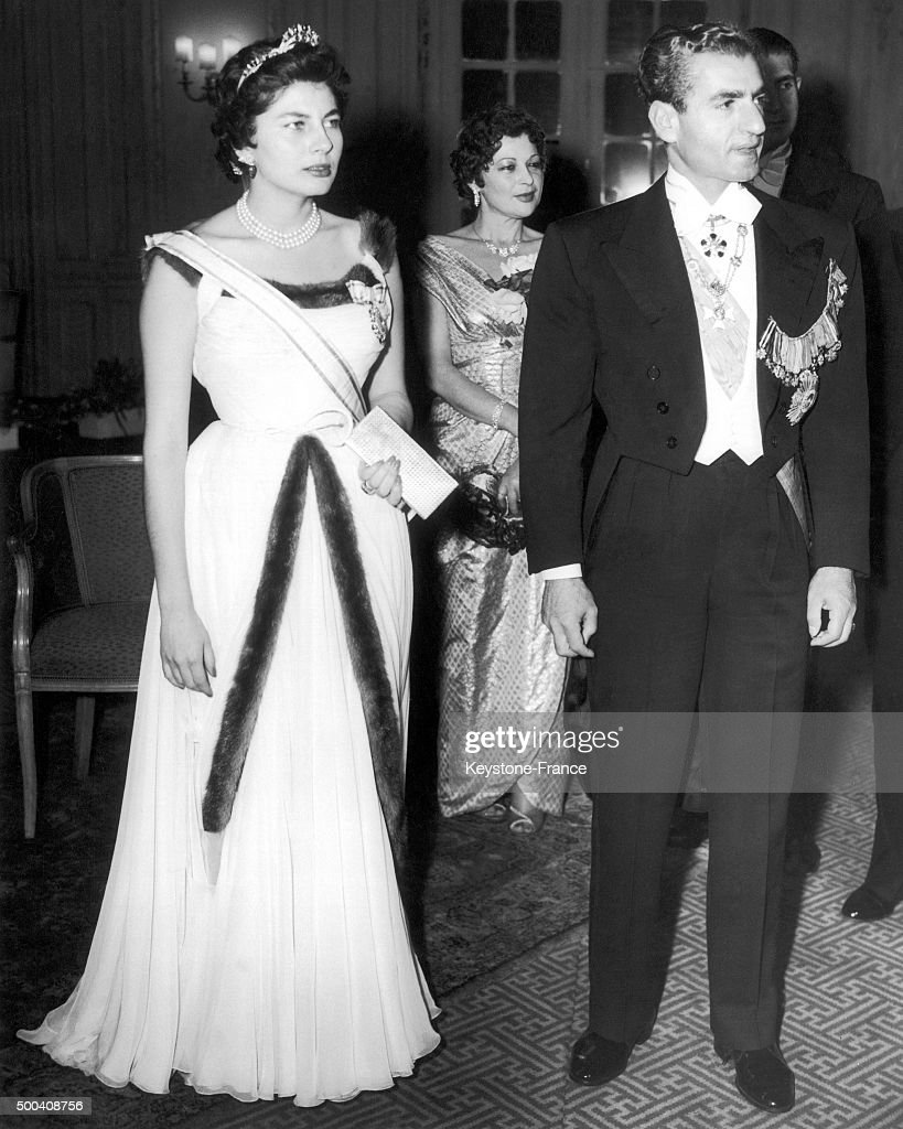 Queen Soraya Esfandiary-Bakhtiari And Mohammad Reza Shah Pahlavi Of Iran In London : News Photo
